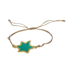 Ruby's Favorite - Gouden turquoise ster