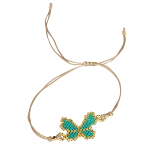 Ruby's Favorite - Turquoise vlinder armband