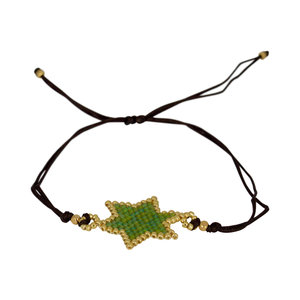 Ruby's Favorite - Groene ster- armband