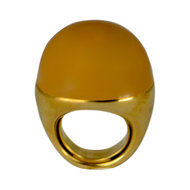 Fraleoni ring Balloon - Goud met terracotta
